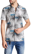 Antony Morato Floral Striped Short Sleeve American Fit Shirt