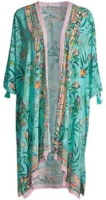 Johnny Was Taina Short Tropical Kimono
