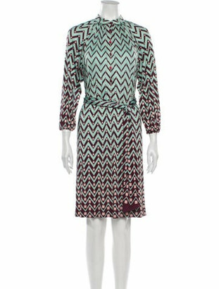 Missoni Silk Knee-Length Dress Green
