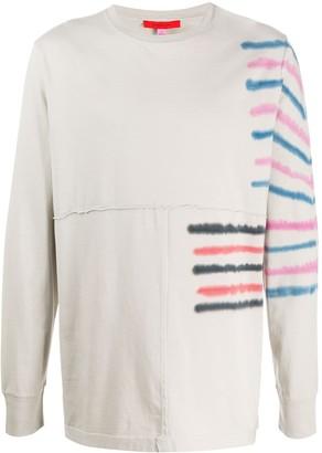 Eckhaus Latta tie-dye stripe long-sleeve T-shirt