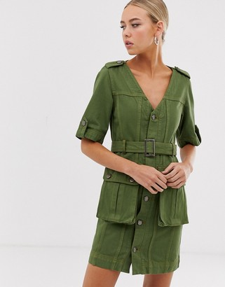 House of Holland Belted Safari Dress