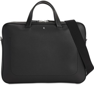 Montblanc Logo Mst Leather Briefcase