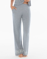 Soma Intimates Pajama Pants Content Border Heather Silver TL