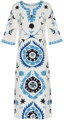 Ada Kamara Long Suzanni White Blue Dress