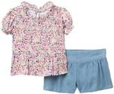 BCBGMAXAZRIA Floral Top & Shorts Set (Baby Girls)