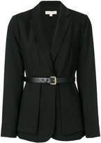 MICHAEL Michael Kors layered belted blazer - women - Spandex/Elastane/Wool - 2