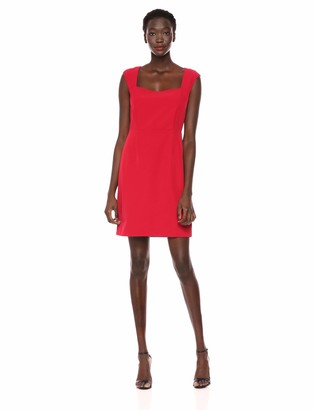 Cupcakes And Cashmere Women's Angie Square Neck Crepe Dress
