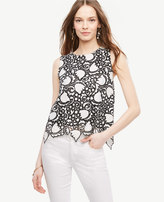 Ann Taylor Tulip Lace Shell