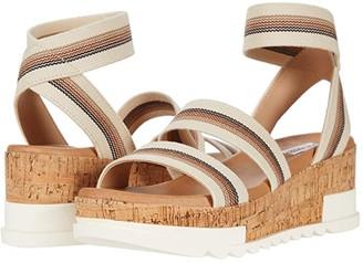 Steve Madden Bandi Wedge Sandal (Beige Multi) Women's Shoes