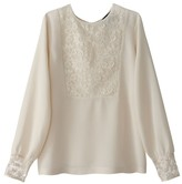 School Rag Blouse with Lace Detail
