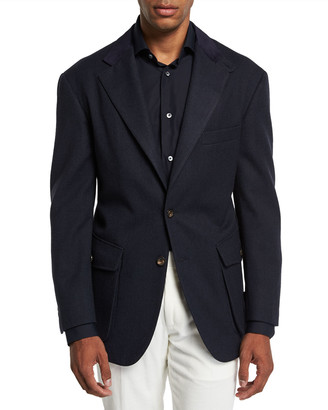 Stefano Ricci Men's Campagna Wool Two-Button Jacket