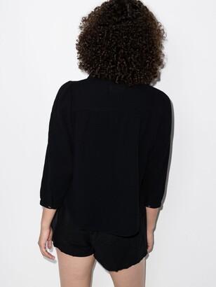 HONORINE Black Chloe Cotton Gauze Shirt
