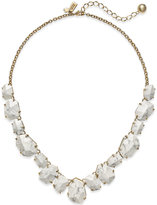 Kate Spade 12k Gold-Plated Faceted Stone Frontal Necklace