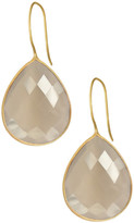 Saachi Faceted Grey Moonstone Drop Earrings