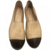 Chanel Beige Leather Espadrilles