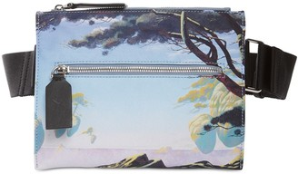 Valentino DRAGON PRINTED NYLON CROSSBODY BAG
