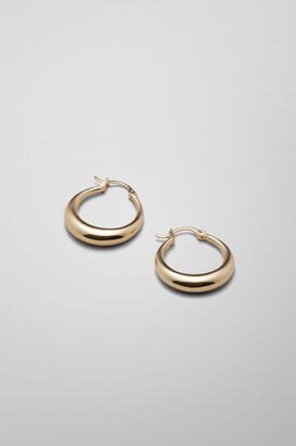 Weekday Mija Hoop Earrings - Gold