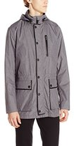 Kenneth Cole New York Kenneth Cole Men's Leather Trim Anorak