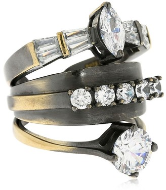 Iosselliani Stacked Ring W/ Crystals