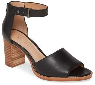 Madewell Paulette Leather Block Heel Sandal