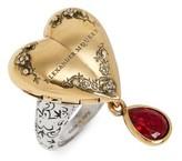 Alexander McQueen Women's Jeweled Locket Ring