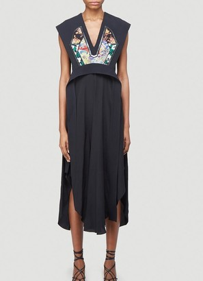Stella McCartney Dee V-Neck Midi Dress