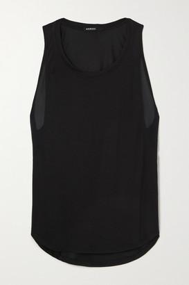 Koral Adriana Mesh-trimmed Modal-blend Jersey Tank - Black
