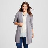 Women's Plus Size Mix Stitch Long Open Cardigan - U-Knit