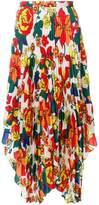 Pringle sun-ray pleated skirt