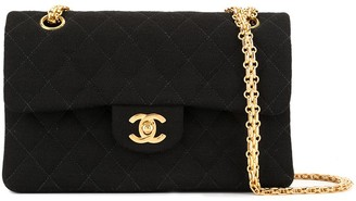 Chanel Pre-Owned 1997-1999 CC logos double flap chain shoulder bag