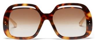 Linda Farrow Renata Square Tortoiseshell-acetate Sunglasses - Tortoiseshell