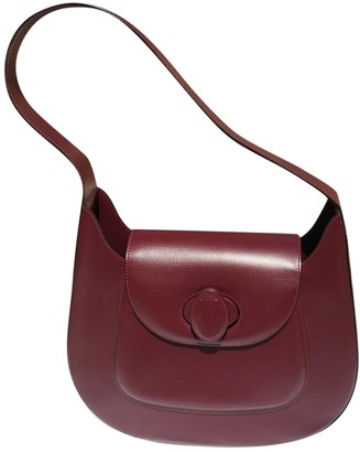 Cartier Burgundy Patent leather Handbags
