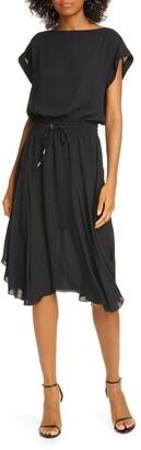 ATM Anthony Thomas Melillo Drawstring Waist Dress