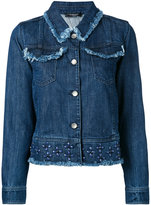 Twin-Set studded denim jacket - women - Cotton - 40
