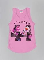 Junk Food Clothing Kids Girls L'amour 44 Tank-kiss-m