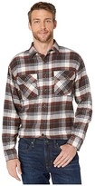 Pendleton Burnside Double-Brushed Flannel Shirt (Red/Brown/Navy Plaid) Men's Clothing