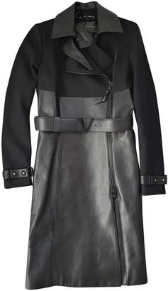 Versace Black Leather Trench coats