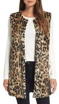 Women's Love Token Leopard Faux Fur Vest