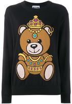 Moschino teddy intarsia jumper - women - Cotton - M