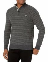 Chaps Men's Classic Fit Button Mock Sweater
