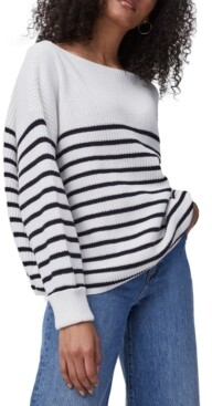 French Connection Lilly Mozart Cotton Striped Sweater