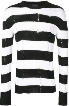 Les Hommes knitted striped sweater