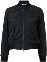 Vince zip up bomber jacket - women - Cotton/Acrylic/Polyamide/Wool - XS