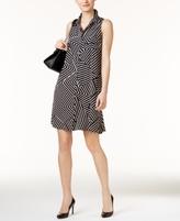 Alfani Petite Geo-Print Shirtdress, Created for Macy's