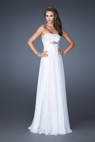 La Femme 18870 Crystal Ornate Strapless Sweetheart Evening Gown