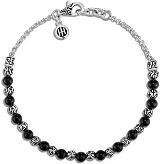 John Hardy Classic Chain Silver 2mm Mini Rolo Chain Bracelet with Black Onyx