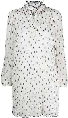 Ganni Polka-Dot Print Shift Dress