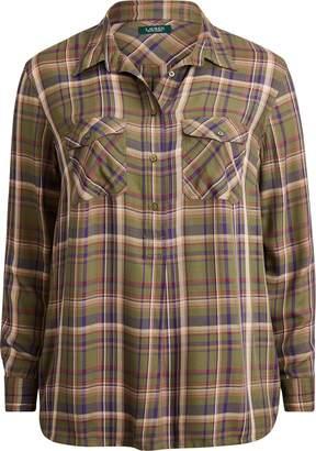 Ralph Lauren Plaid Patch-Pocket Shirt