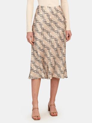 Bec & Bridge Python Midi Slip Skirt