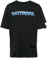 Mastermind Japan logo cut-out sleeve T-shirt